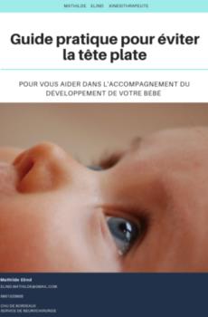 bébé tête plate